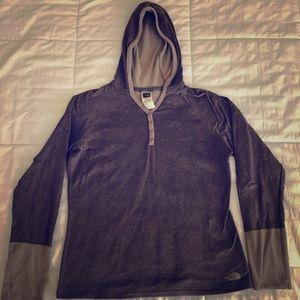 Women's North Face hoodie long sleeve shirt